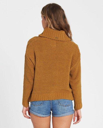 4 On A Roll Chenille Sweater Yellow JV07SBON Billabong
