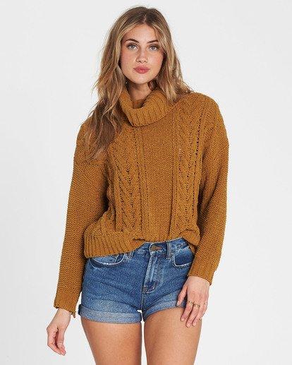 2 On A Roll Chenille Sweater Yellow JV07SBON Billabong