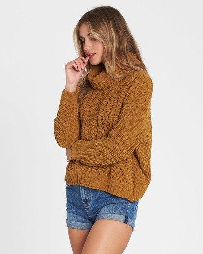 3 On A Roll Chenille Sweater Yellow JV07SBON Billabong