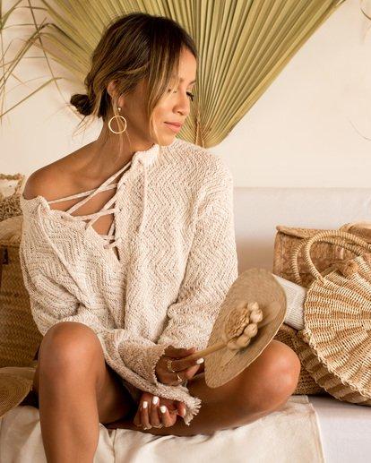 1 Sincerely Jules Palms For Daze Sweater White JV14TBPA Billabong