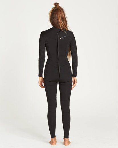 2 4/3 Furnace Synergy Back Zip Fullsuit Black JWFUQBB4 Billabong