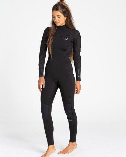 1 3/2 Synergy Back Zip Fullsuit Black JWFUTBL3 Billabong