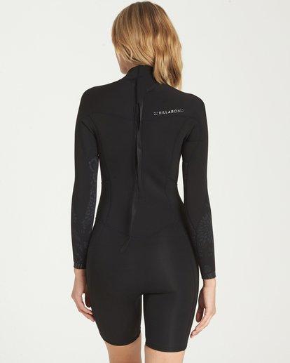 2 Synergy Back Zip Long Sleeve Springsuit Black JWSPNBSL Billabong