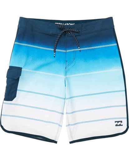 0 Boys' (2-7) 73 X Stripe Boardshorts Blue K129NBSS Billabong
