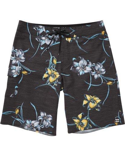 0 Boys' (2-7) All Day Floral Pro Boardshorts Black K132TBAF Billabong