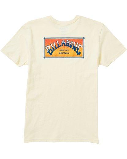 1 Kids' Arch Box Tee Shirt Yellow K401SBAB Billabong