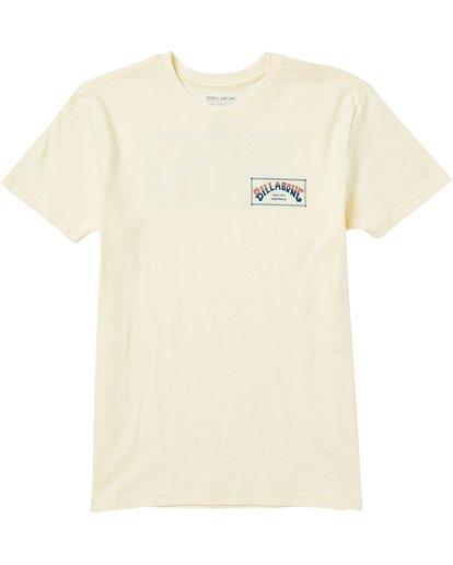 0 Kids' Arch Box Tee Shirt Yellow K401SBAB Billabong
