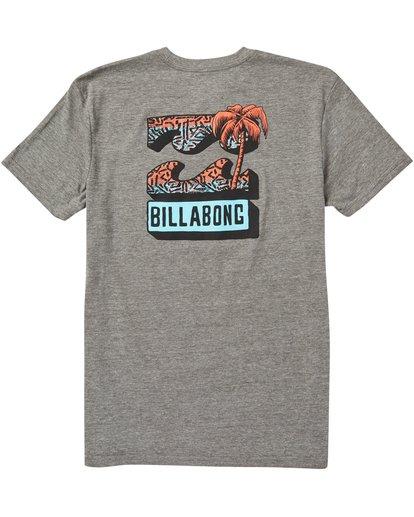 1 Kids' Bbtv Tee Shirt Grey K401SBBB Billabong