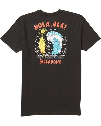1 Kids' Hola Ola Tee Shirt Black K401SBHO Billabong