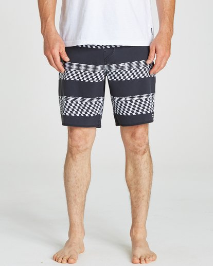 3 Sundays X Stripe Boardshorts Black M123QBSS Billabong