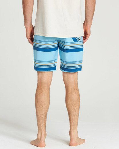 5 Sundays Stripe Pro Boardshorts Blue M124TBSS Billabong