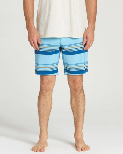 4 Sundays Stripe Pro Boardshorts Blue M124TBSS Billabong