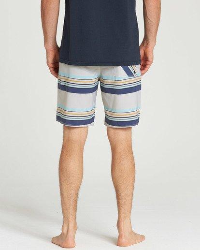 4 Sundays Stripe Pro Boardshorts Grey M124TBSS Billabong