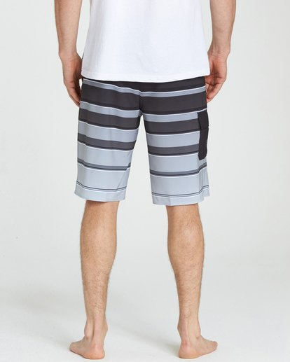 4 All Day X Stripe Boardshorts Black M125NBAS Billabong
