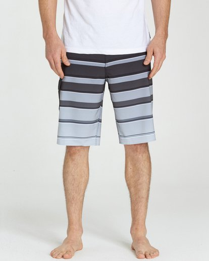 3 All Day X Stripe Boardshorts Black M125NBAS Billabong