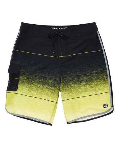 0 73 Stripe Pro Boardshorts Yellow M127TBST Billabong