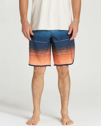 3 73 Stripe Pro Boardshorts Orange M127TBST Billabong