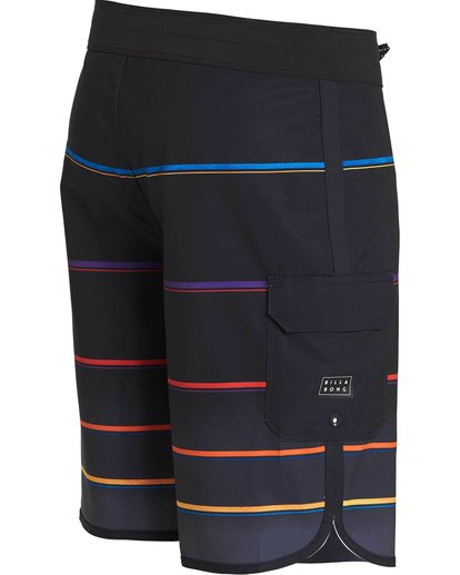 2 73 X Stripe Boardshorts Black M129NBSS Billabong