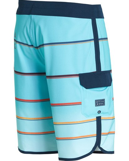 2 73 X Stripe Boardshorts Green M129NBSS Billabong