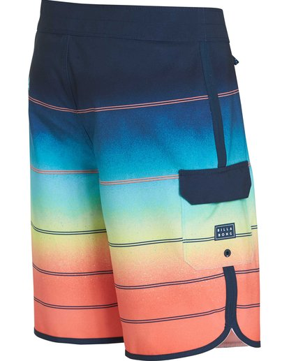2 73 X Stripe Boardshorts Orange M129NBSS Billabong