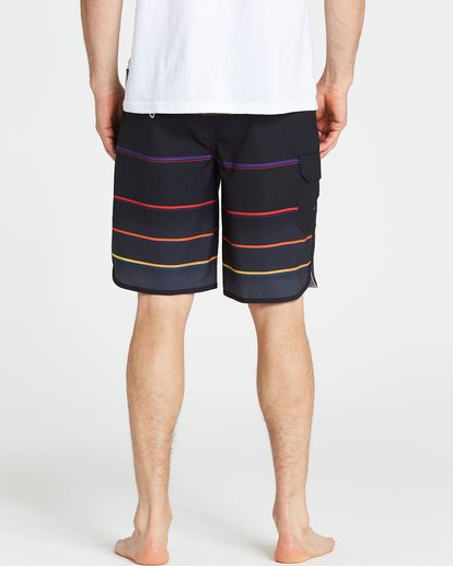 4 73 X Stripe Boardshorts Black M129NBSS Billabong