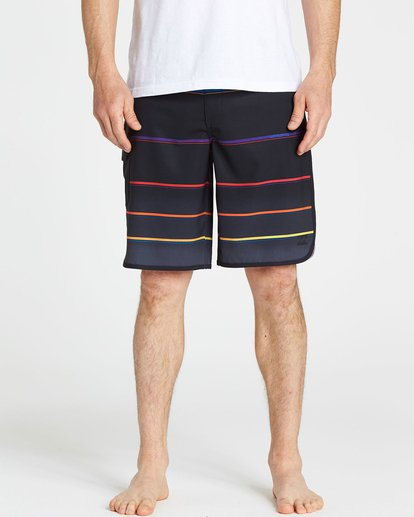 3 73 X Stripe Boardshorts Black M129NBSS Billabong