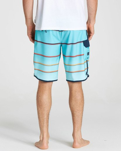 4 73 X Stripe Boardshorts Green M129NBSS Billabong