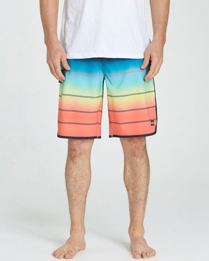 3 73 X Stripe Boardshorts Orange M129NBSS Billabong