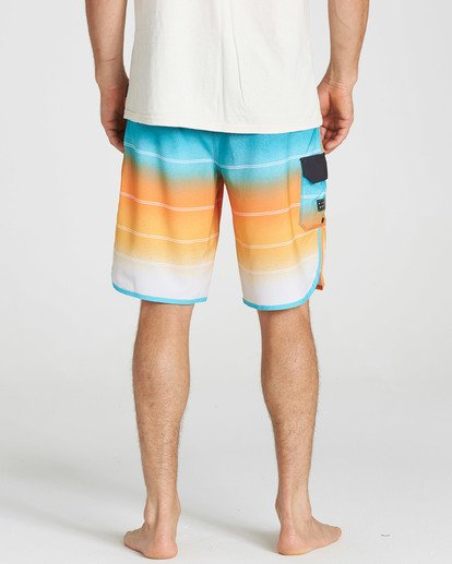 5 73 X Stripe Boardshorts Orange M129NBSS Billabong