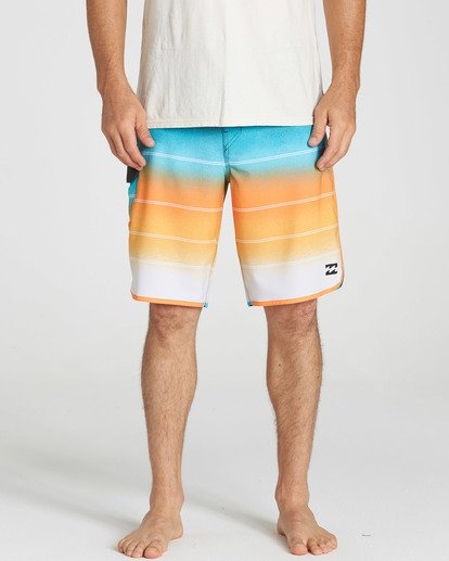 4 73 X Stripe Boardshorts Orange M129NBSS Billabong