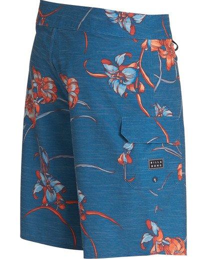 2 All Day Floral Pro Boardshorts Blue M132TBAF Billabong