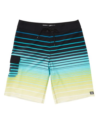 0 All Day Stripe Pro Boardshorts Yellow M133TBAS Billabong