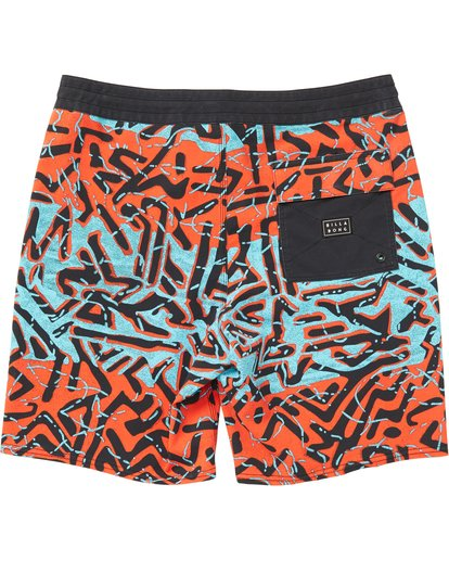 1 Sundays Lo Tides Boardshorts Red M142NBSU Billabong
