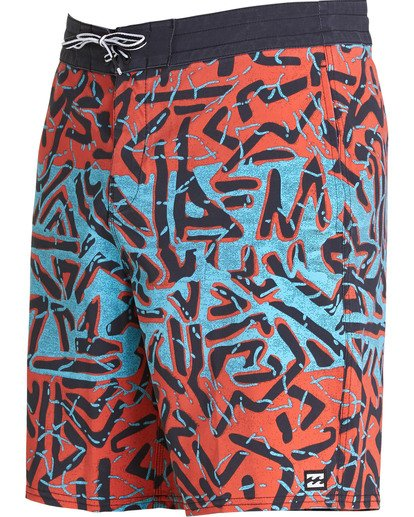 2 Sundays Lo Tides Boardshorts Red M142NBSU Billabong