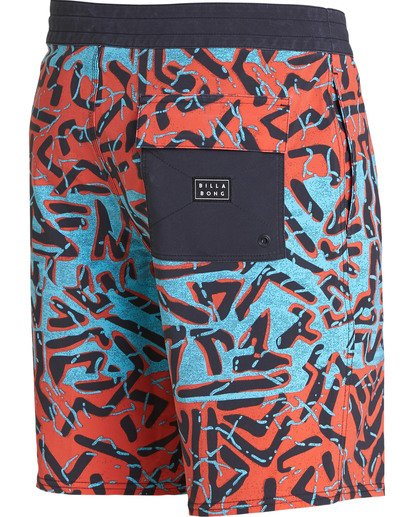 3 Sundays Lo Tides Boardshorts Red M142NBSU Billabong