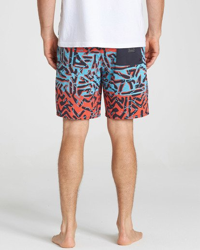 5 Sundays Lo Tides Boardshorts Red M142NBSU Billabong