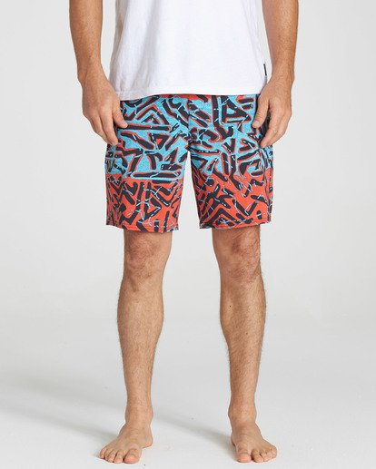 4 Sundays Lo Tides Boardshorts Red M142NBSU Billabong
