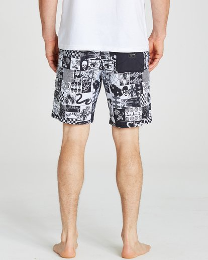 4 Sundays Lo Tides Boardshorts White M142NBSU Billabong