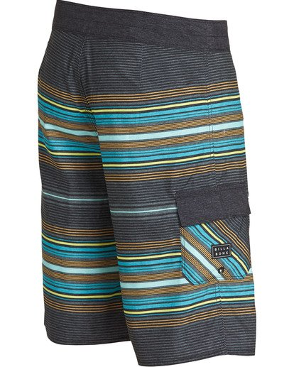 2 All Day Stripe OG Boardshorts Grey M160TBAD Billabong