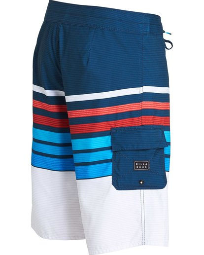 2 All Day OG Stripe Boardshorts Blue M165NBAS Billabong