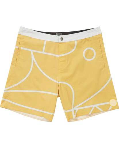 0 Babylonian Pearl Boardshorts Yellow M195QBBP Billabong