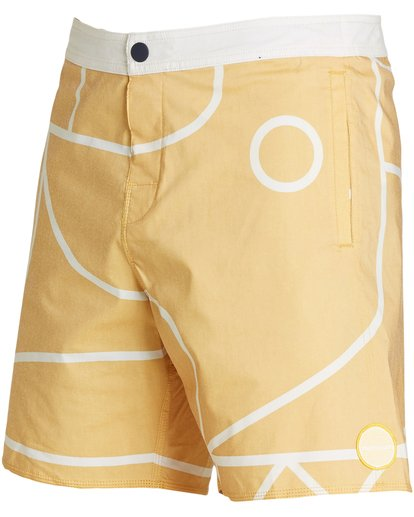 1 Babylonian Pearl Boardshorts Yellow M195QBBP Billabong