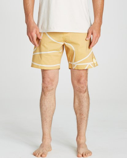 3 Babylonian Pearl Boardshorts Yellow M195QBBP Billabong