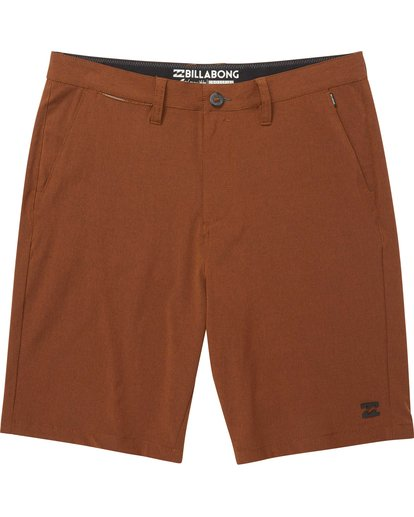 0 Crossfire X Mid Length Submersibles Shorts Brown M201QBCM Billabong