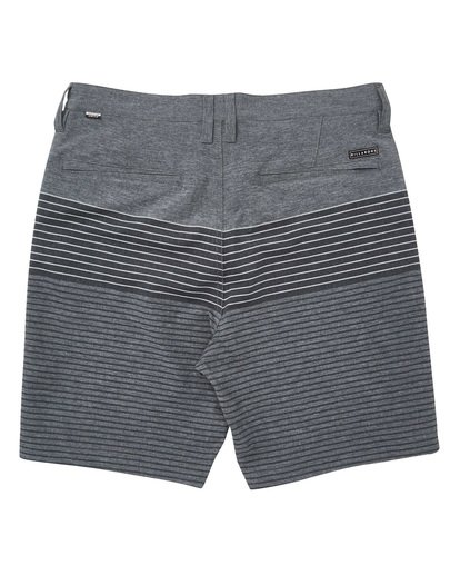 1 Crossfire X Stripe Striped Shorts Grey M206TBCS Billabong