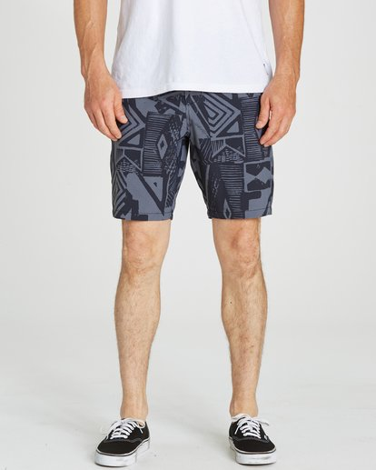 3 New Order X Sundays Submersibles Shorts Black M213NBNS Billabong