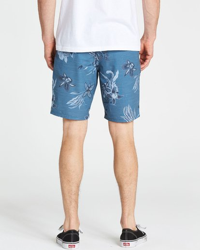 4 New Order X Sundays Submersibles Shorts Blue M213NBNS Billabong