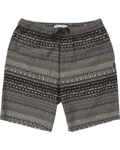 0 Larry Layback Jacquard Shorts Black M241QBLJ Billabong