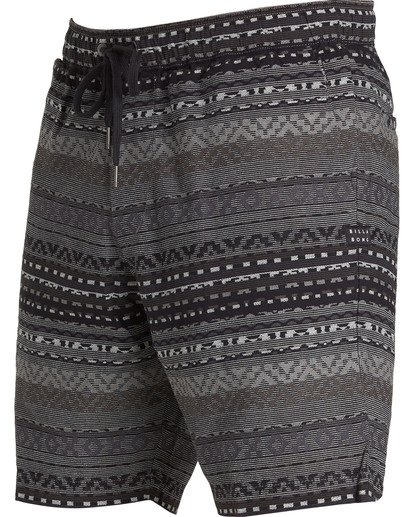 1 Larry Layback Jacquard Shorts Black M241QBLJ Billabong