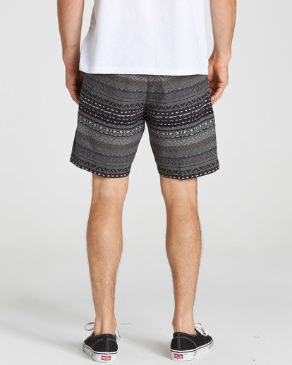 4 Larry Layback Jacquard Shorts Black M241QBLJ Billabong